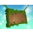 Wooden signs with grass vector