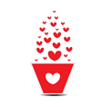 Heart pot valentines day vector