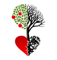 Live and dead tree vector