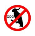 Cockatoo in zoo prohibited vector