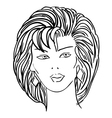 Hand-drawn fashion model womans face vector