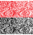 Set of swirl ornamental seamless patterns vector