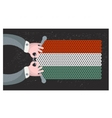 Hand made flag of hungary vector