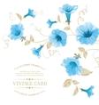 Design of vintage floral card vector