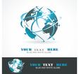 Sphere 3d design symbol globe blue anr white vector