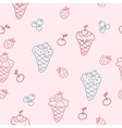 Cartoon seamless background with ice cream vector