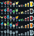 Set of colorful alcohol drinks vector