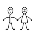 Men and women are relationship symbol vector