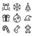 Christmas icons on white background vector