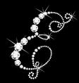 E italic letter with diamonds vector