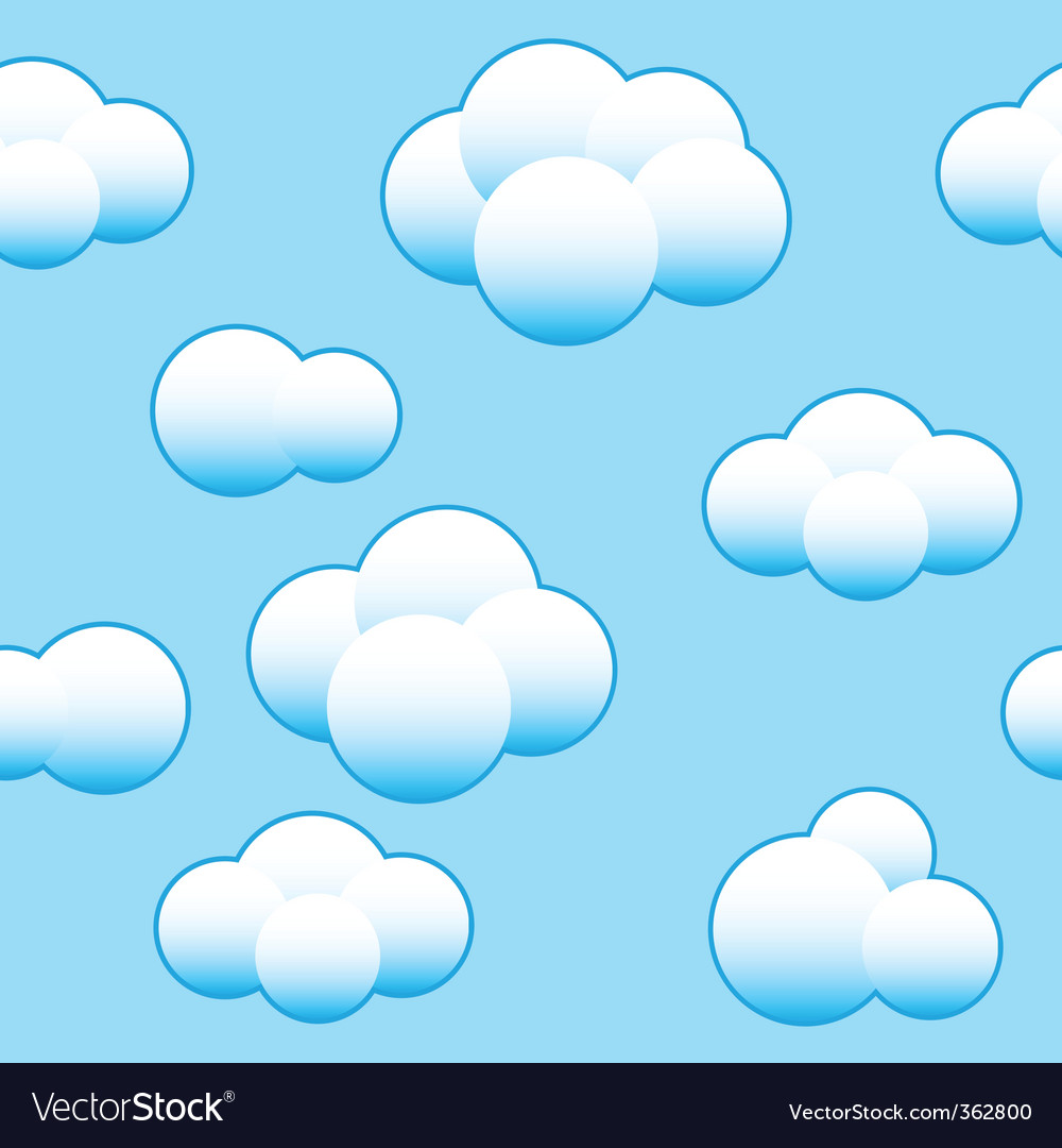 Abstract light blue sky background vector | Price: 1 Credit (USD $1)