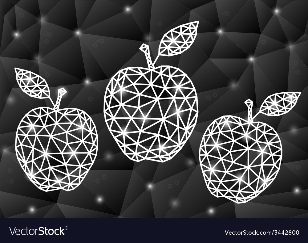 Abstract triangle apples with background vector   Price: 1 Credit (USD $1)