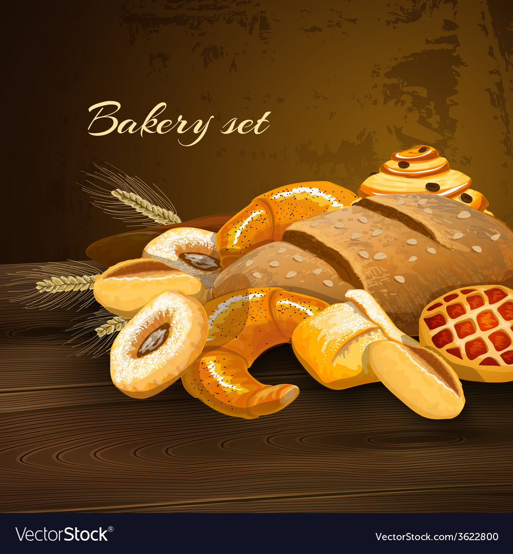 Bakery bread poster vector | Price: 1 Credit (USD $1)