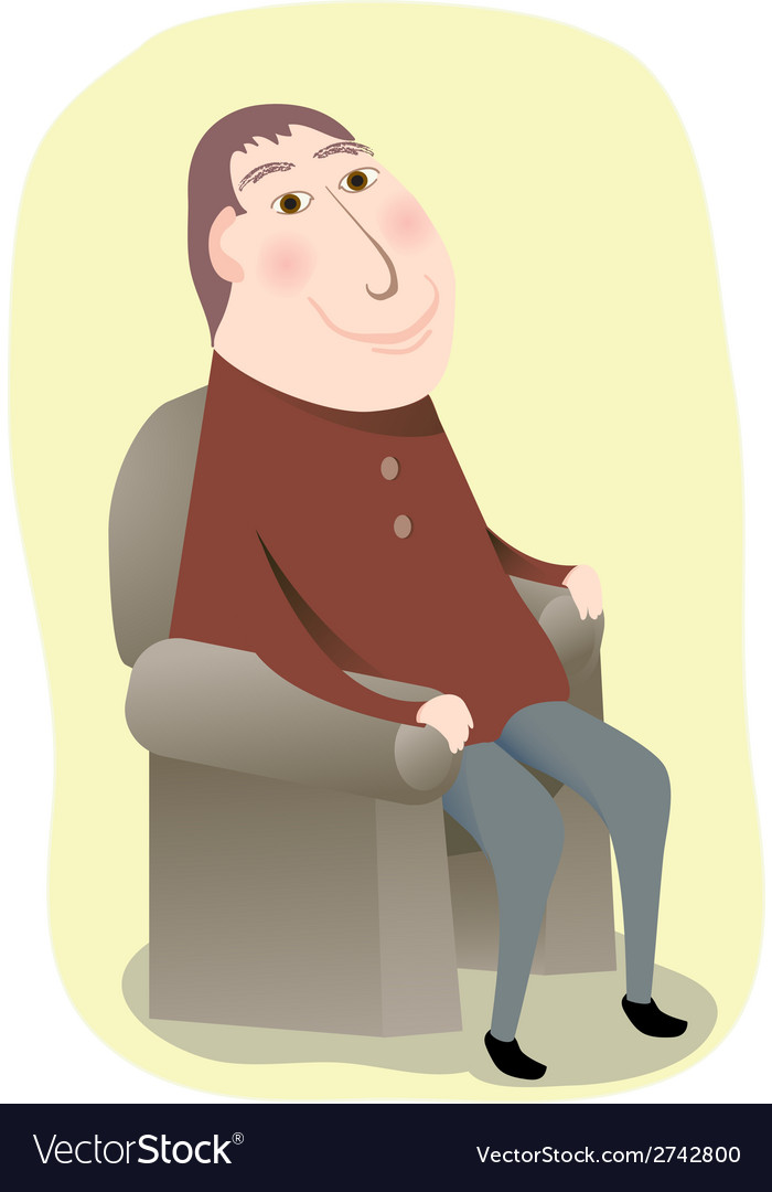 Man sitting in a chair vector | Price: 1 Credit (USD $1)