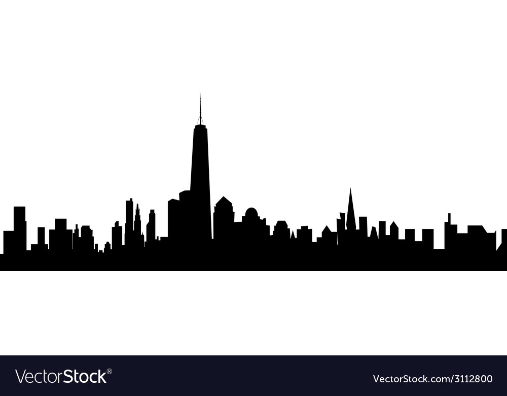 New york skyline vector   Price: 1 Credit (USD $1)