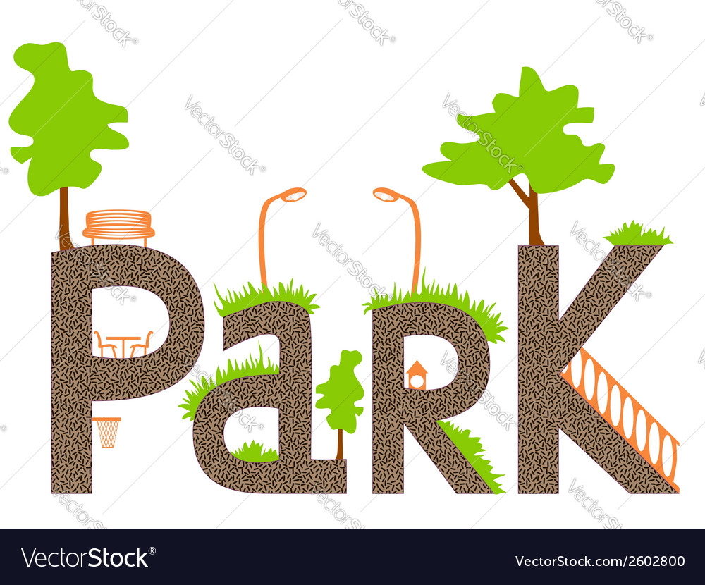 Park vector | Price: 1 Credit (USD $1)