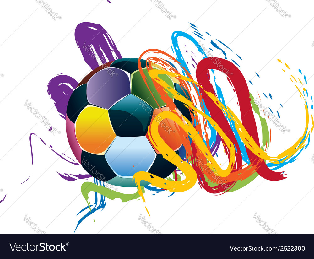 Soccer ball with brush strokes3 vector | Price: 1 Credit (USD $1)