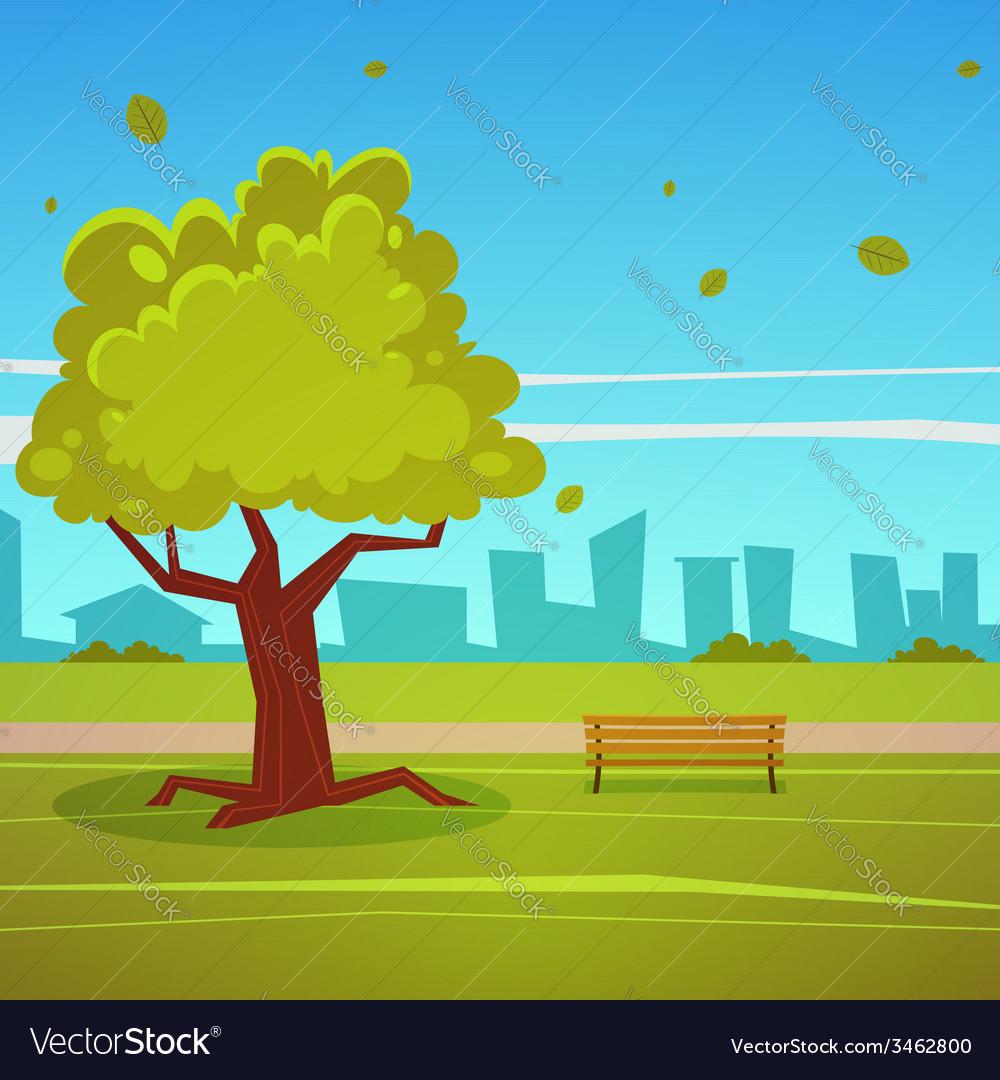 Summer park vector | Price: 3 Credit (USD $3)