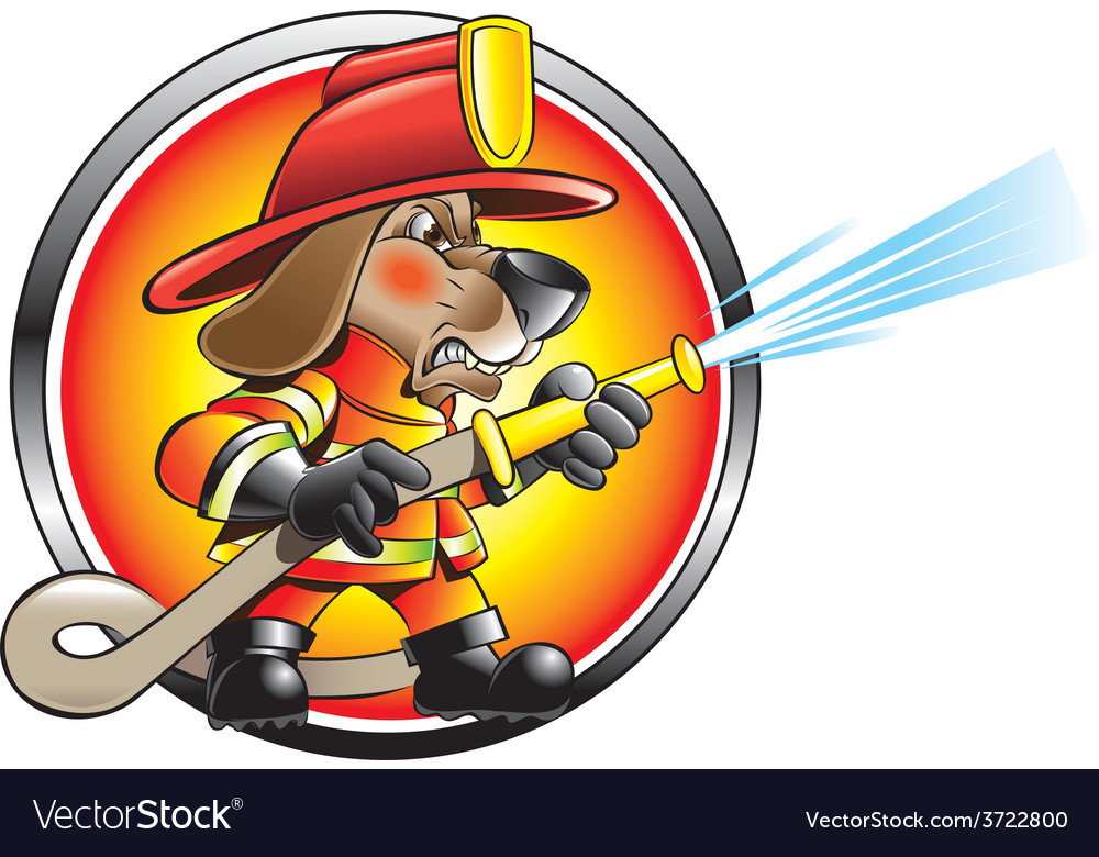 Urban firefighter vector | Price: 3 Credit (USD $3)