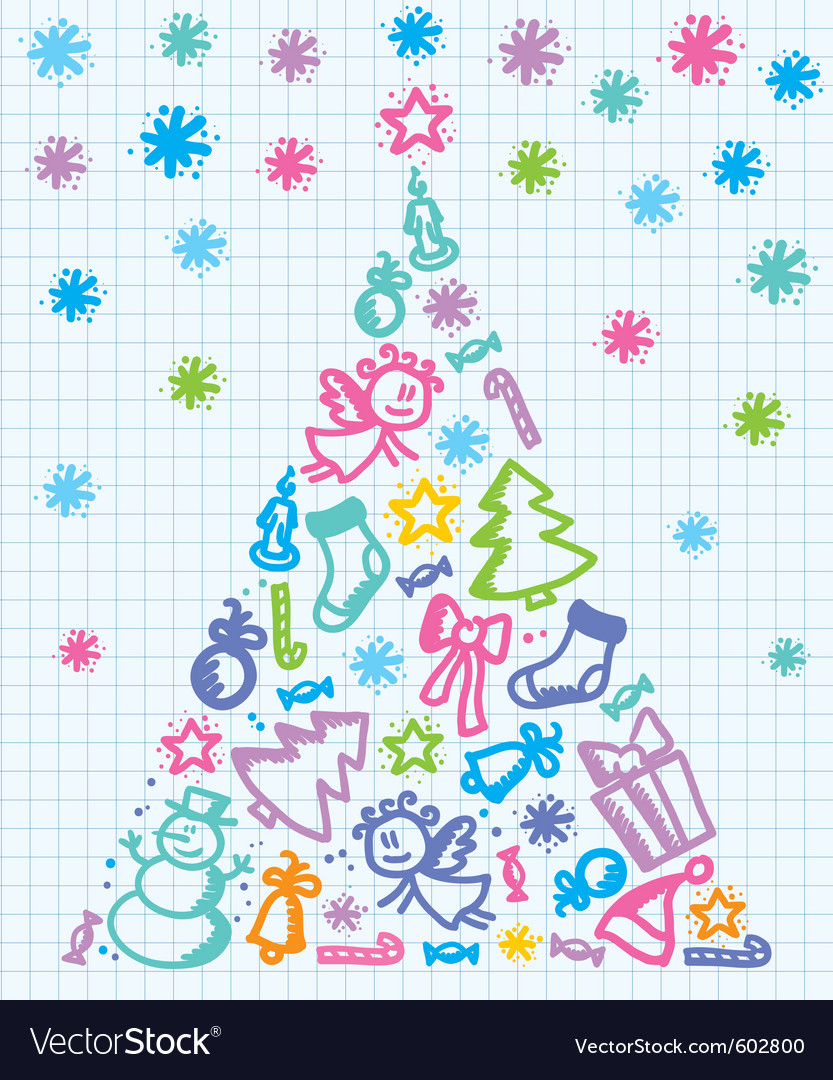 Xmas tree vector | Price: 1 Credit (USD $1)