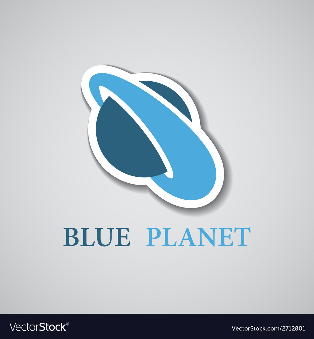Abstract stylized blue planet icon vector | Price: 1 Credit (USD $1)