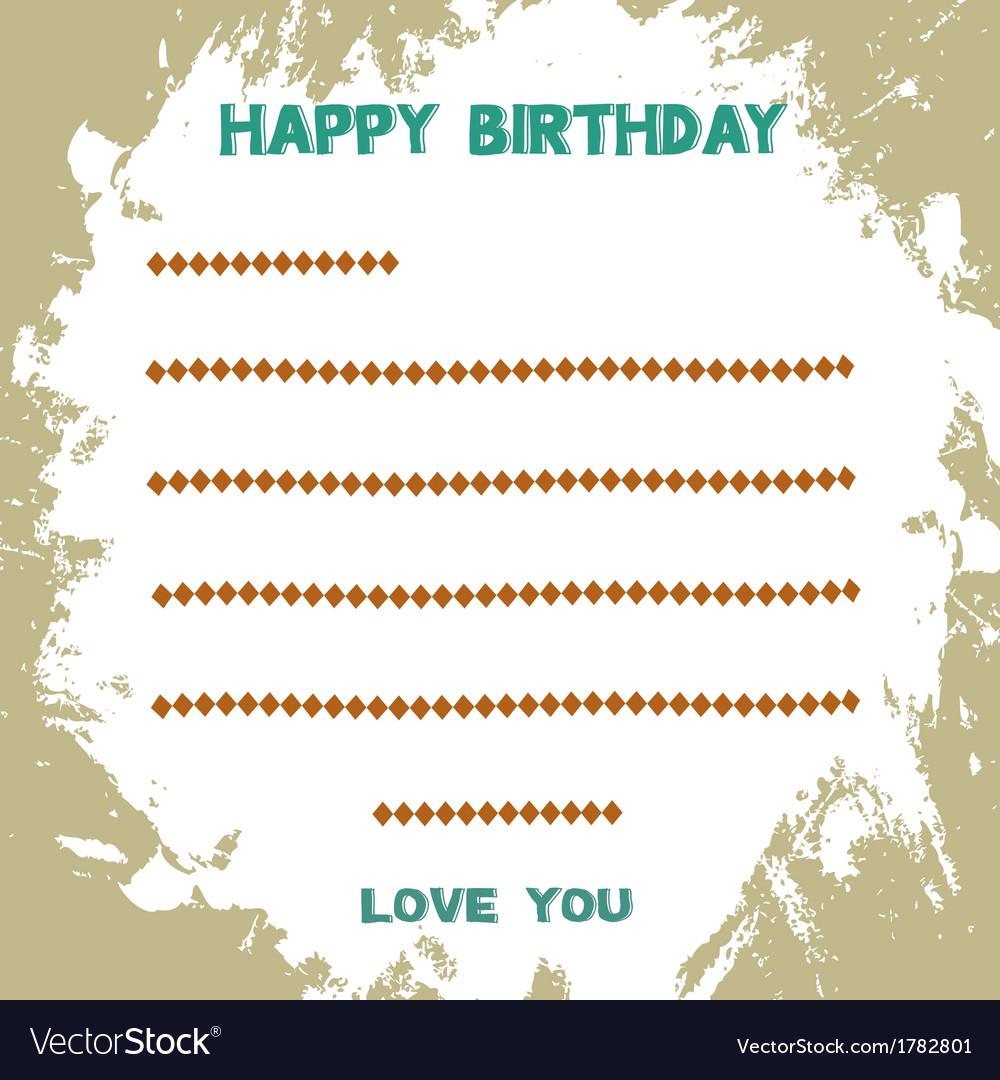 Birthday card2 vector   Price: 1 Credit (USD $1)