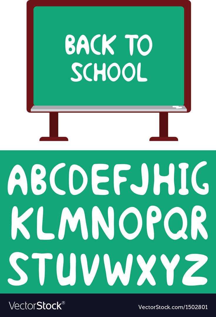 Blackboard and alphabet vector | Price: 1 Credit (USD $1)