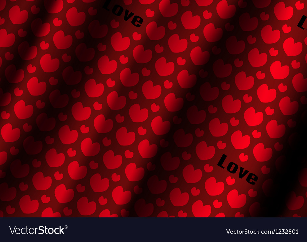 Heart cloth background of valentins day vector | Price: 1 Credit (USD $1)