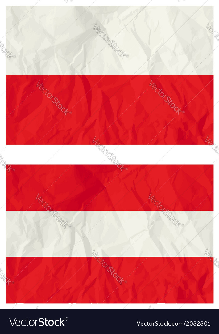 Poland and austria flags vector | Price: 1 Credit (USD $1)