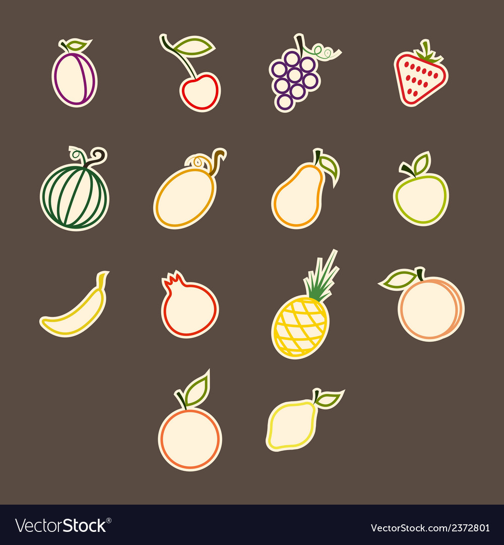 Stickers fruit loops vector | Price: 1 Credit (USD $1)