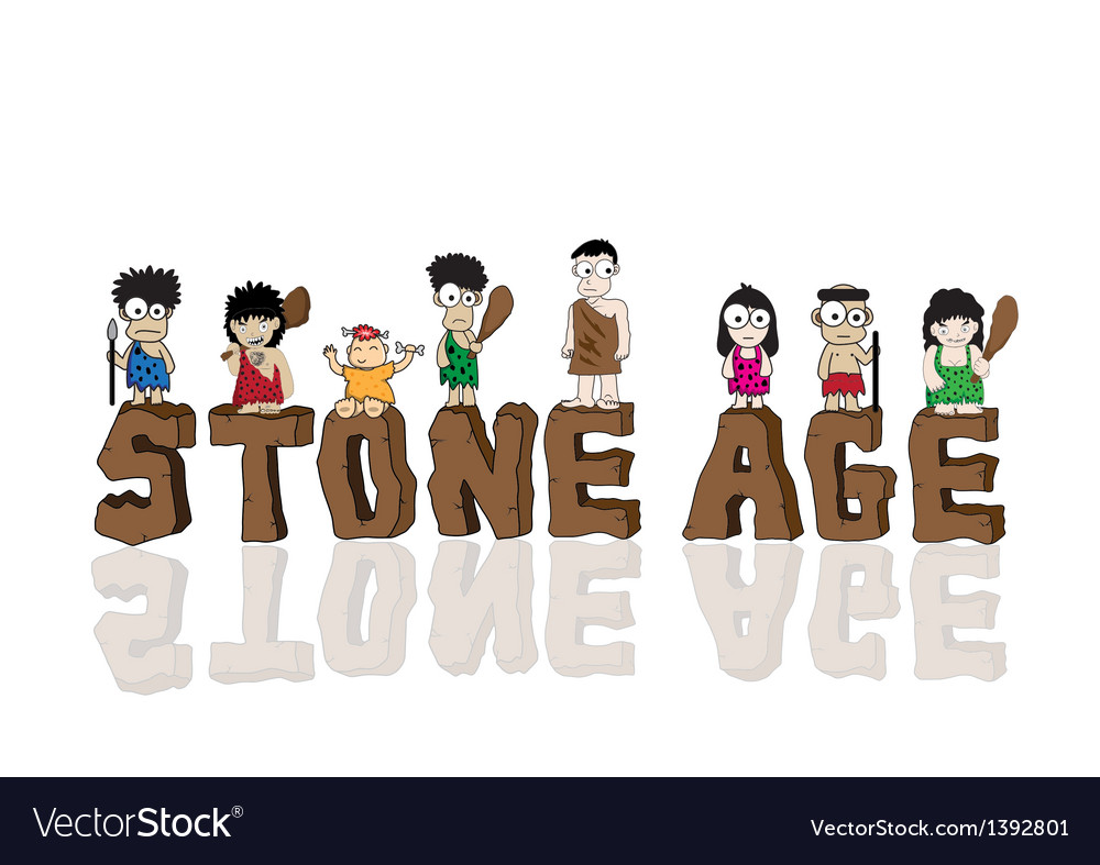 Stone age cartoon vector | Price: 1 Credit (USD $1)