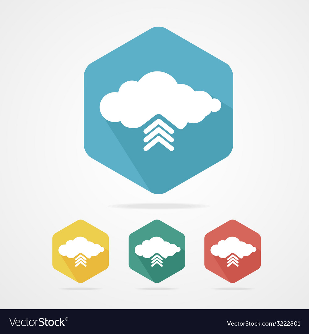 Upload from cloud icon set vector | Price: 1 Credit (USD $1)