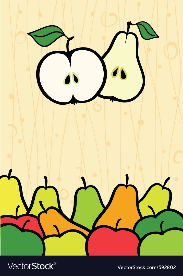 Apples and pears vector | Price: 1 Credit (USD $1)