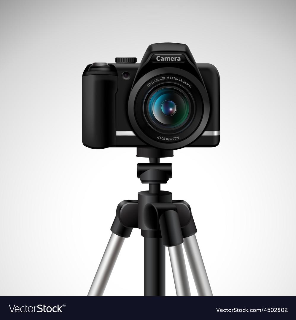 Camera on tripod vector | Price: 1 Credit (USD $1)