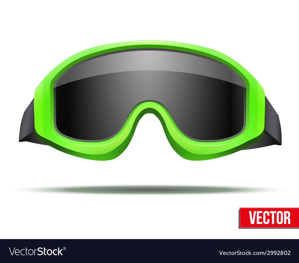 Classic green snowboard ski goggles with black vector | Price: 1 Credit (USD $1)
