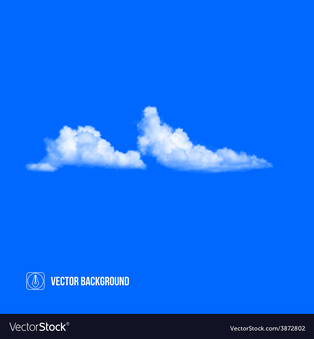 Clouds on blue sky vector   Price: 1 Credit (USD $1)