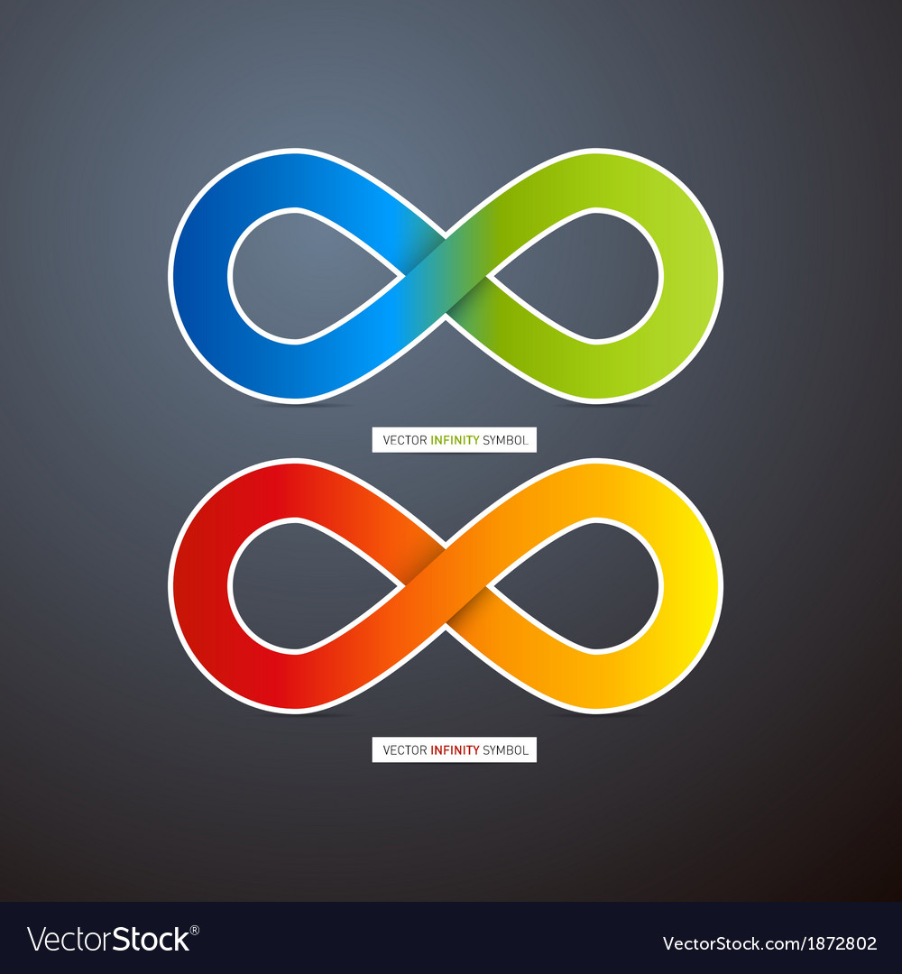 Colorful abstract infinity symbols vector | Price: 1 Credit (USD $1)