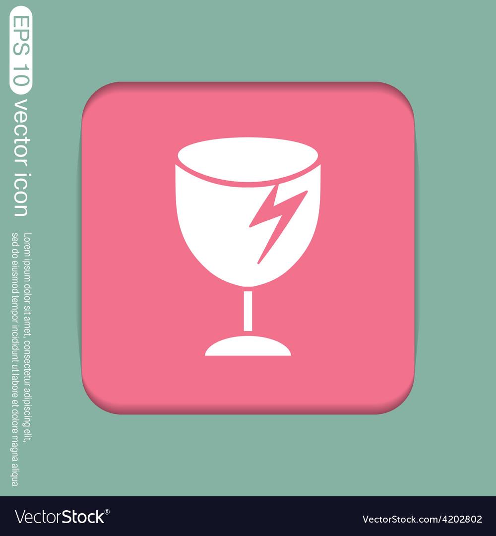 Fragile glass symbol logistics icon vector   Price: 1 Credit (USD $1)