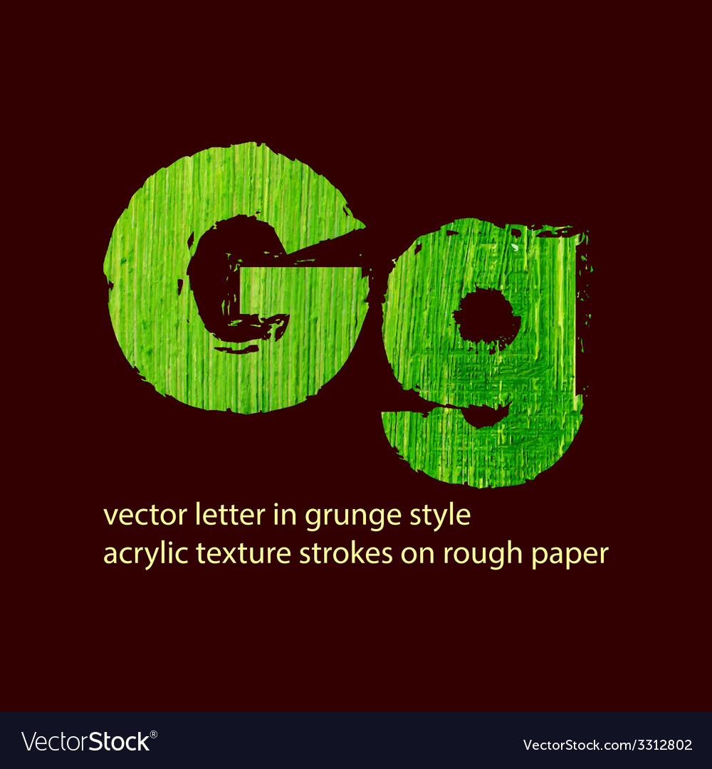 Grungy letter g vector | Price: 1 Credit (USD $1)