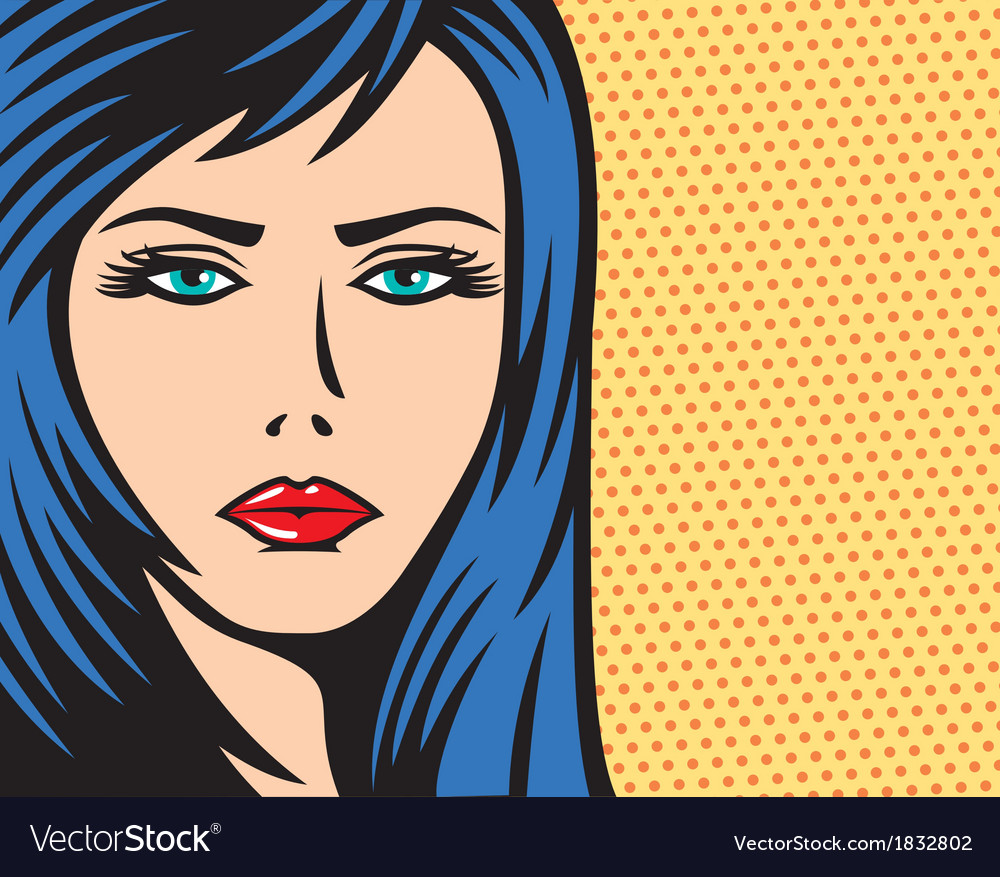 Pop art woman vector | Price: 1 Credit (USD $1)