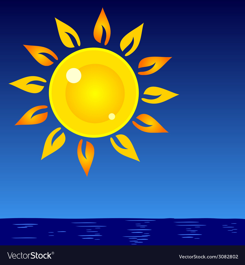 Sun and sea background vector   Price: 1 Credit (USD $1)