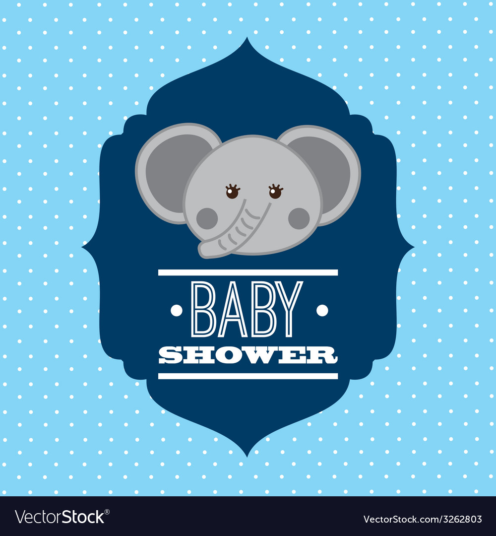 Babby shower design vector | Price: 1 Credit (USD $1)