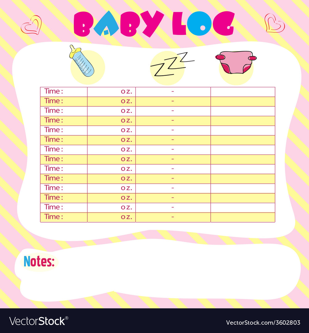 Baby log vector | Price: 1 Credit (USD $1)