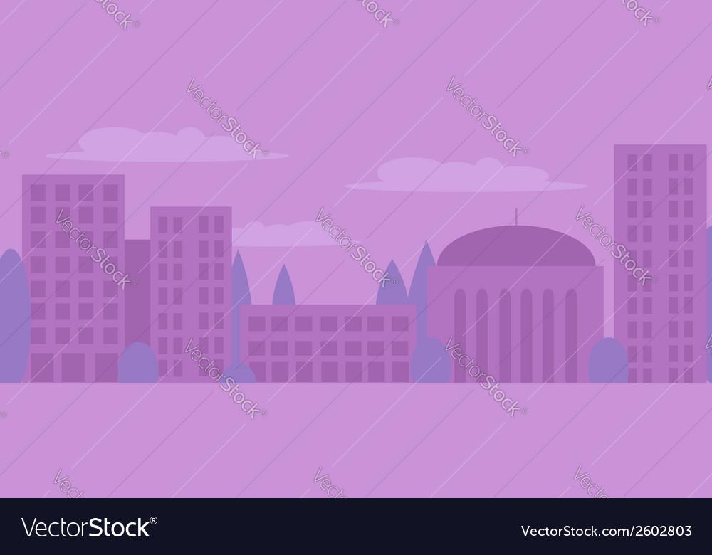 City landscape in light purple colors vector | Price: 1 Credit (USD $1)