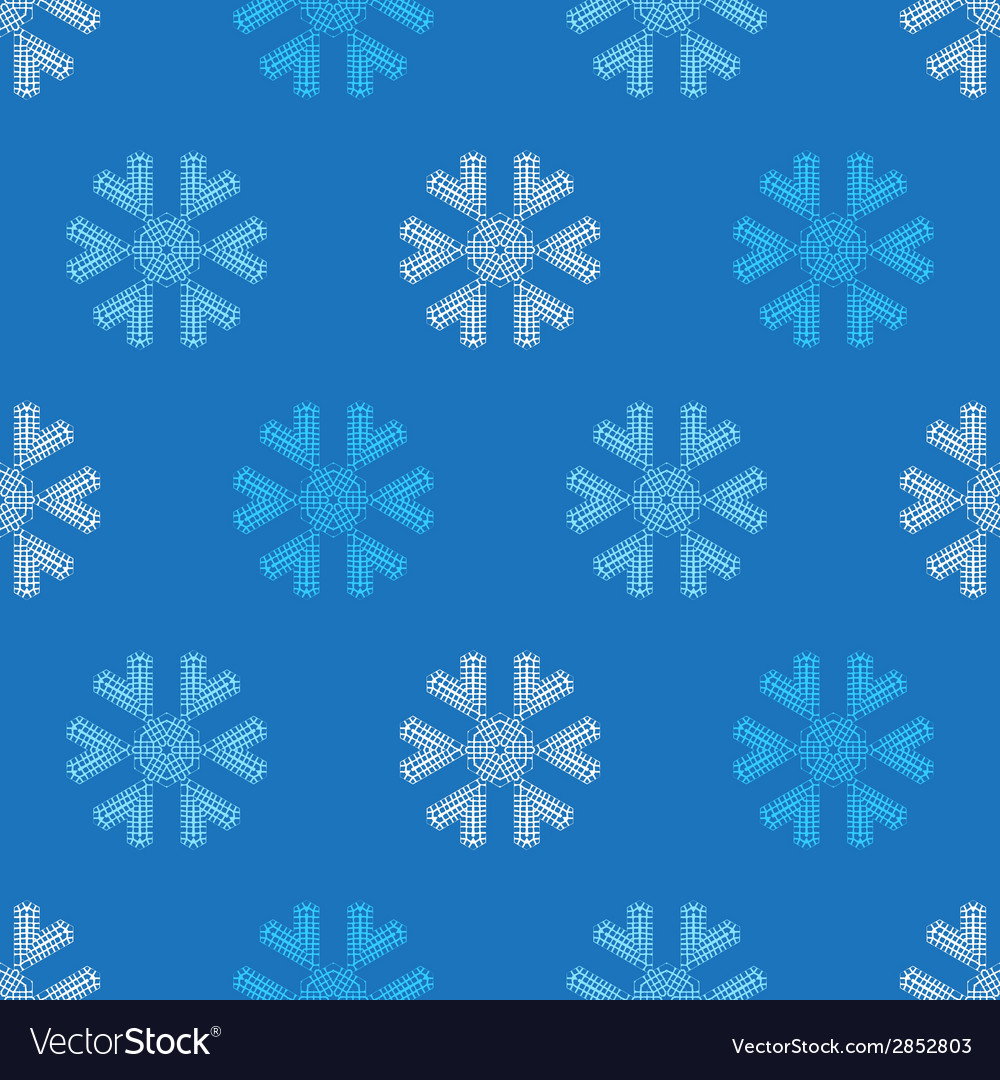 Crochet snowflakes seamless pattern vector | Price: 1 Credit (USD $1)