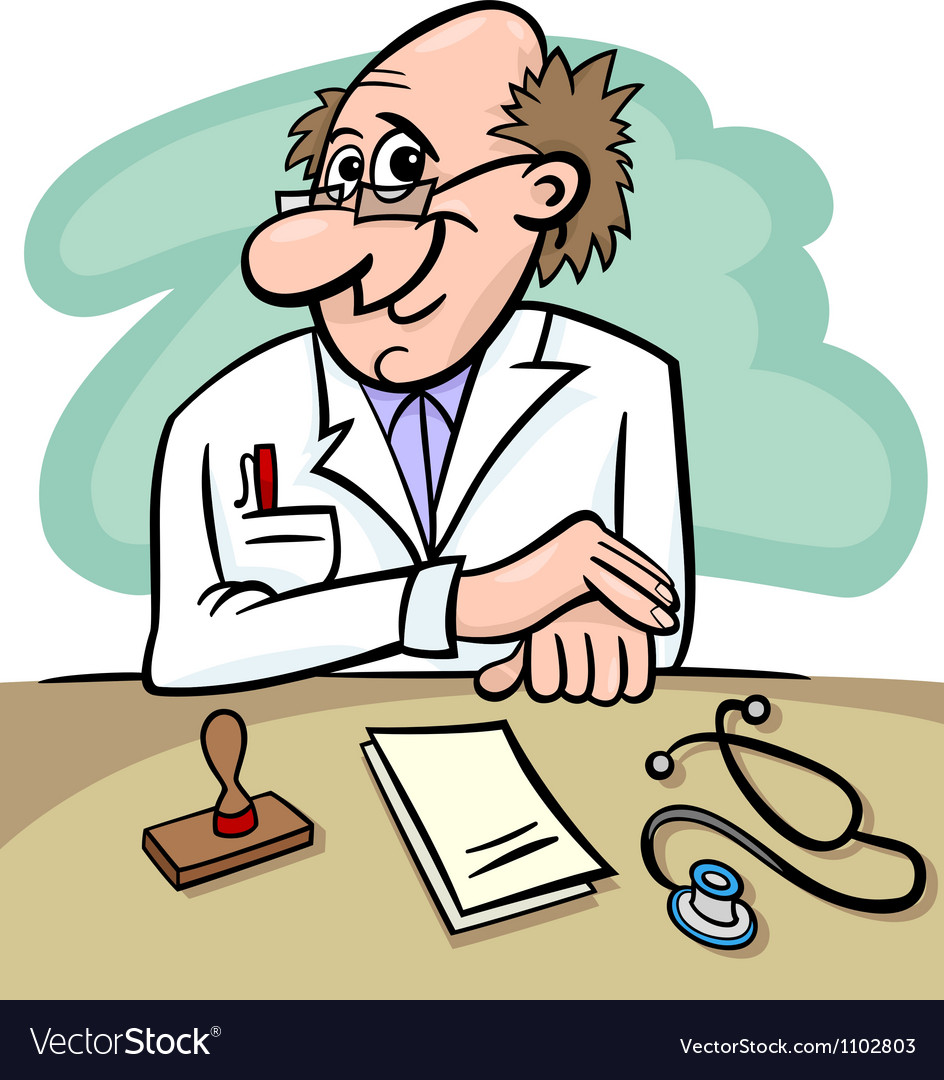 Doctor in clinic cartoon vector | Price: 1 Credit (USD $1)