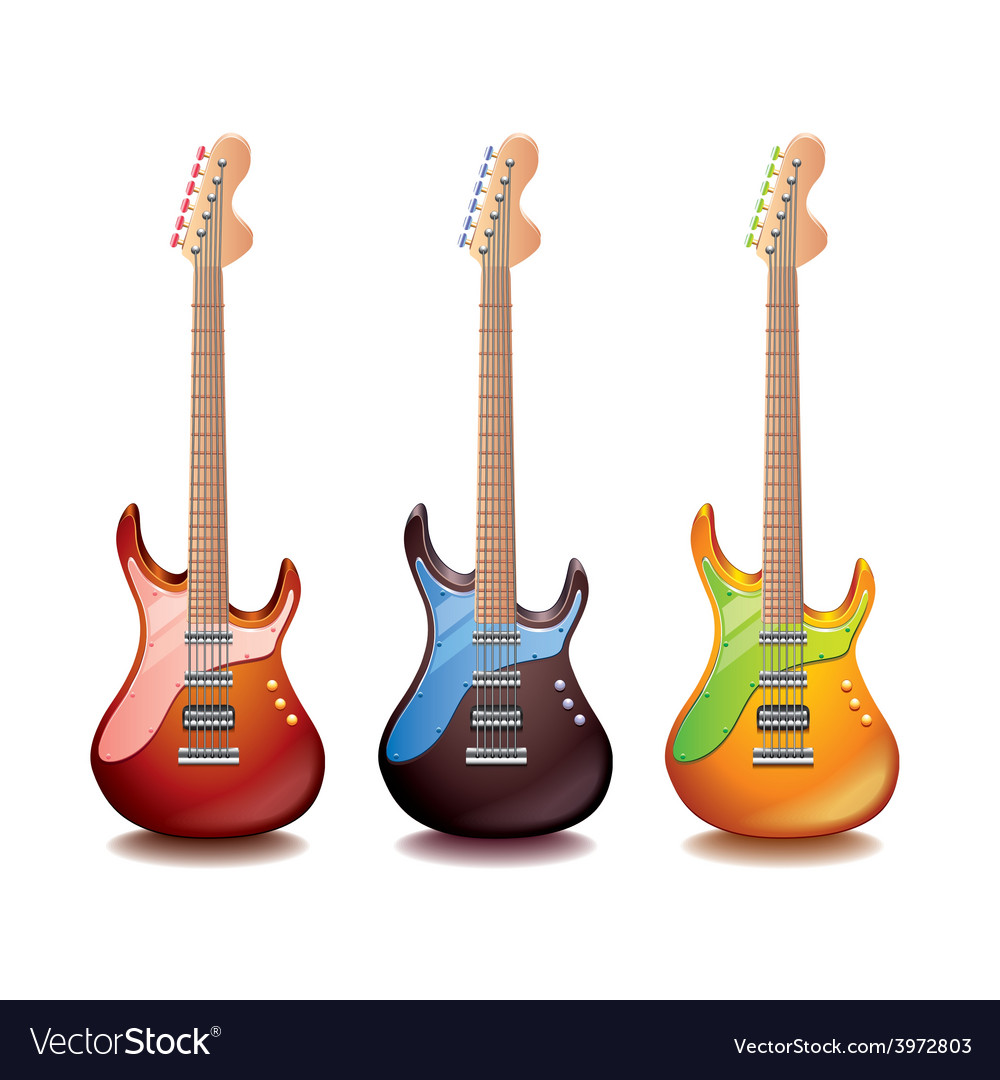 Electric guitar isolated vector | Price: 3 Credit (USD $3)