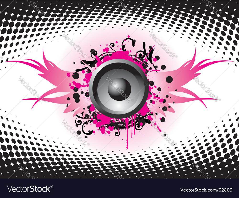 Flying speaker vector | Price: 1 Credit (USD $1)