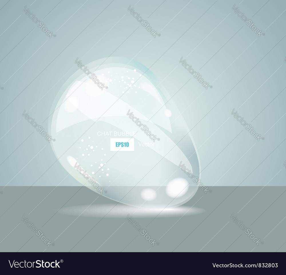 Idea bulbs glass chat bubbles vector | Price: 1 Credit (USD $1)