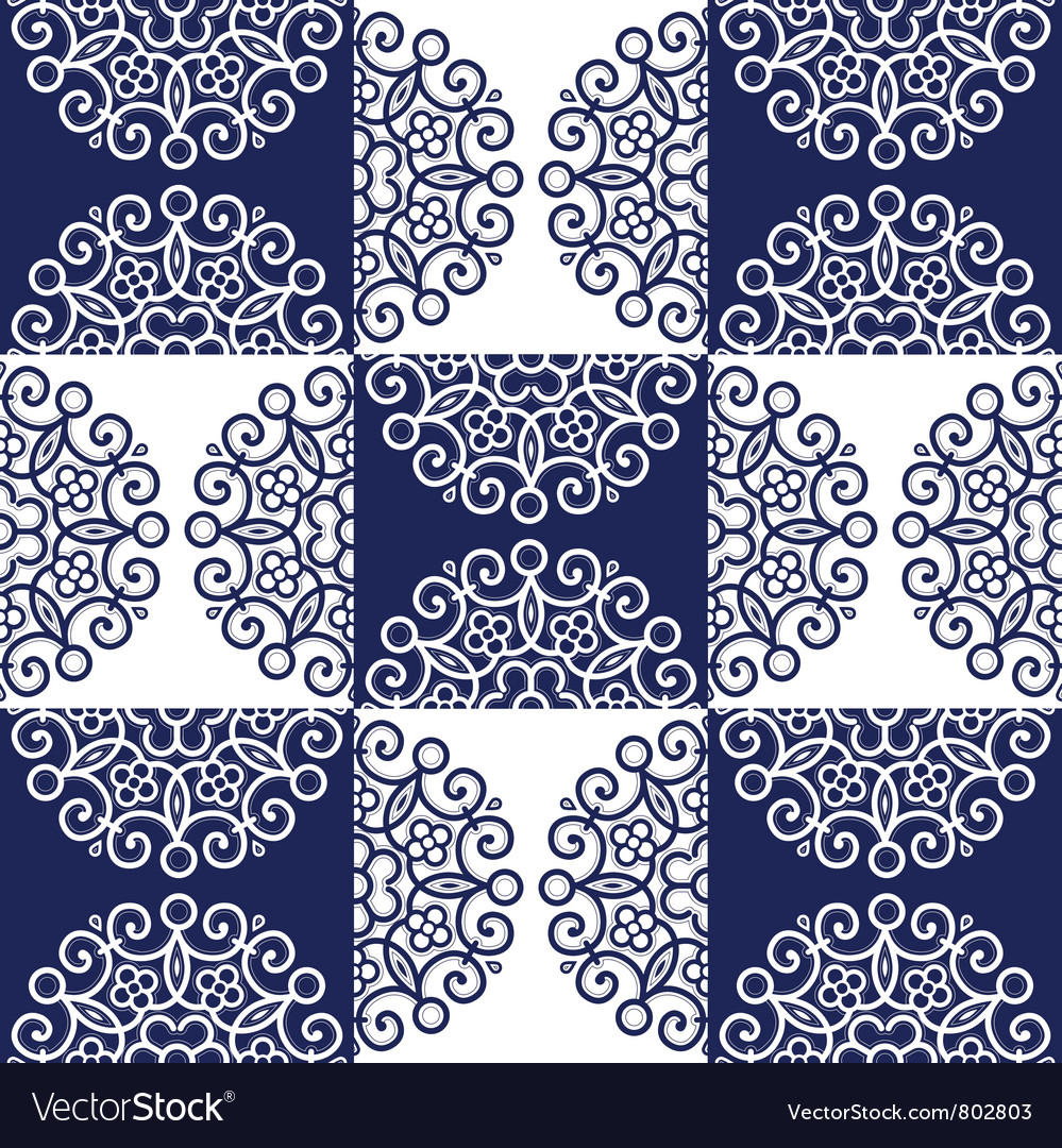 Lace background round back vector | Price: 1 Credit (USD $1)